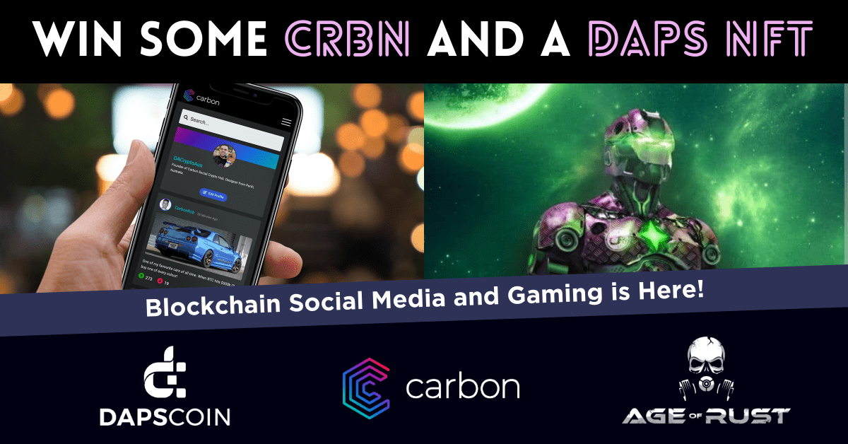 DAPS Gaming NFT and Carbon Tokens Giveaway
